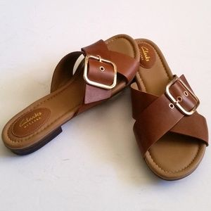 Clarks Artisan Sandals Flats with Buckles